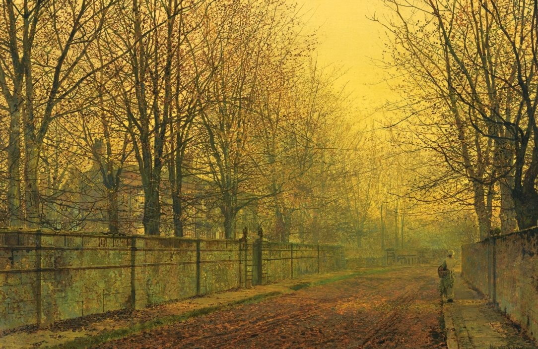 John Atkinson Grimshaw In Autumn's Golden Glow