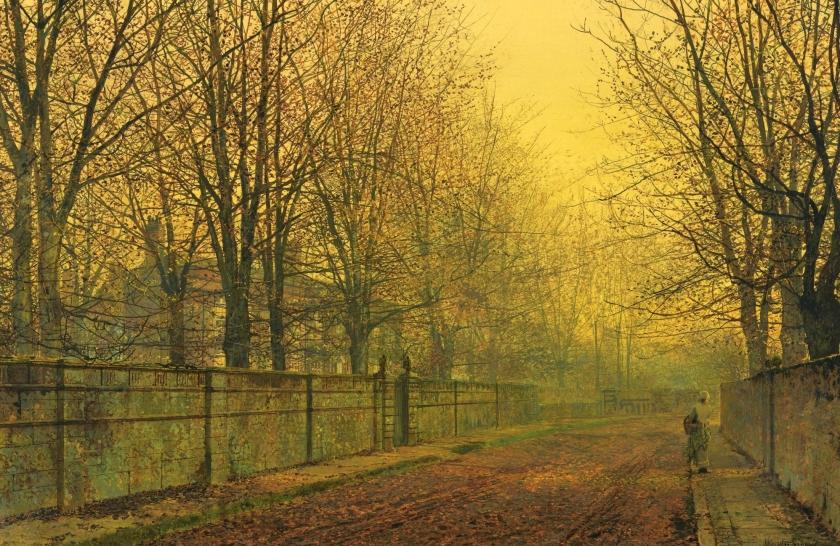 John Atkinson Grimshaw In Autumn's Golden Glow