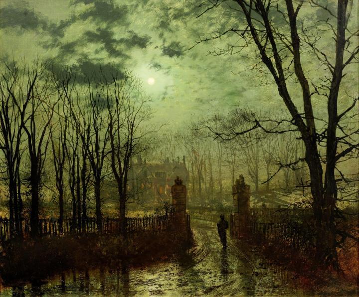 John_Atkinson_Grimshaw,_At_The_Park_Gate,_1878